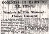 Coolness in raids on N.E. towns