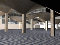 Another early image from the computer model of Queensgate Market